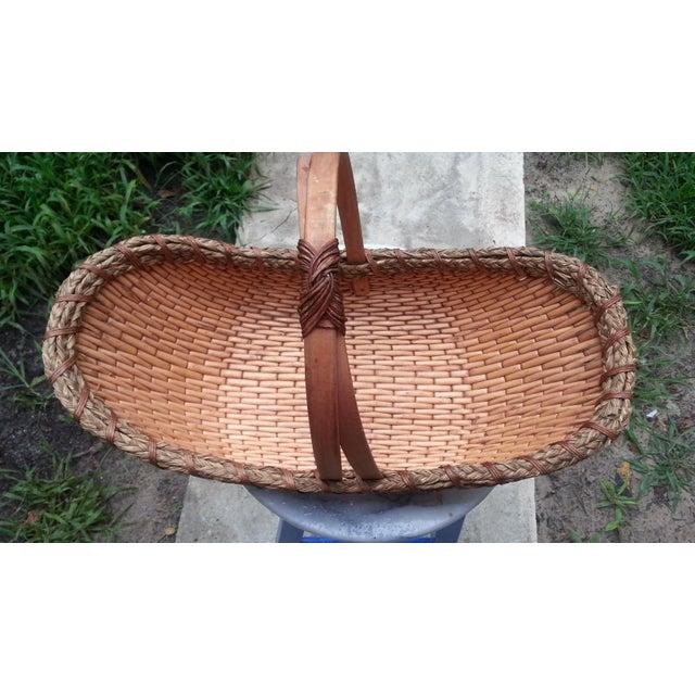 Image of Vintage Rattan Gathering Basket