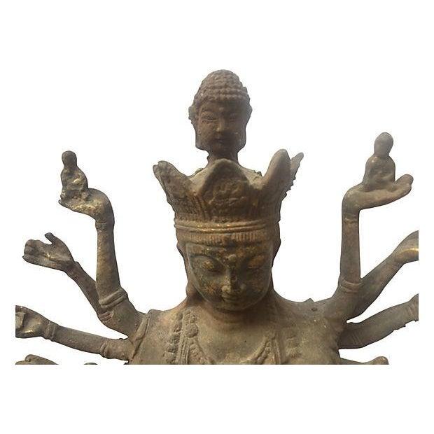 Cast Iron Statue of the Goddess Durga - Image 5 of 6