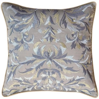 Silver & Gold Embroidered Pillow