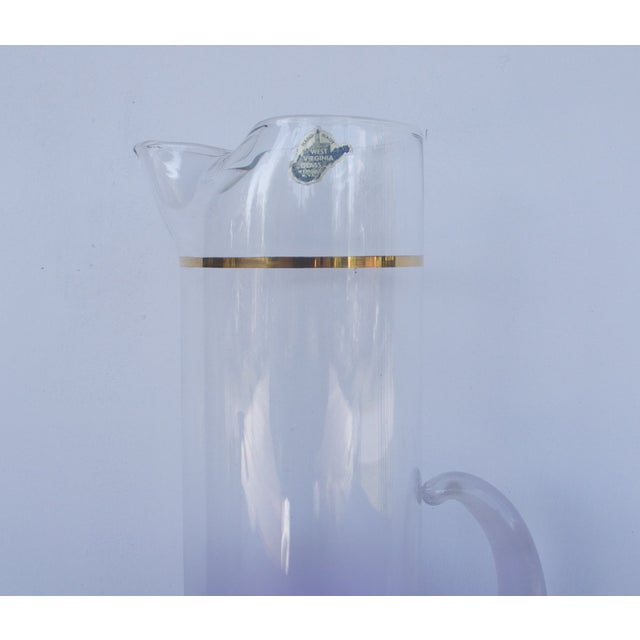 West Virginia Glass Frosted Cocktail Set - Image 8 of 8