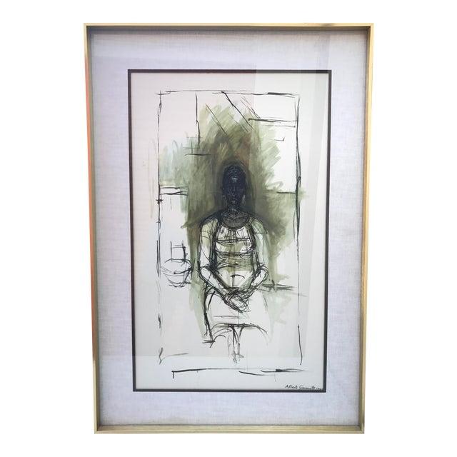 """Image of """"Caroline"""" Lithograph by Alberto Giacometti"""