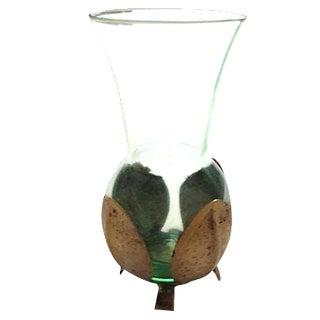 Swedish Brass & Glass Vase