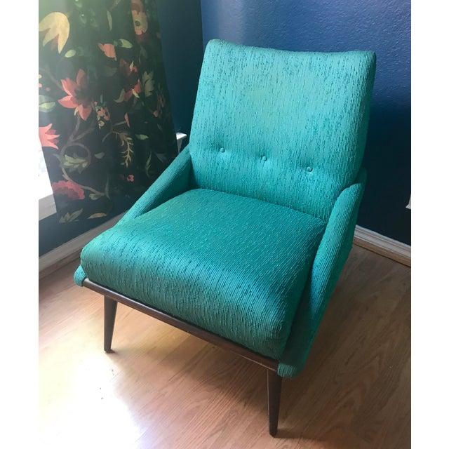 Teal Kroehler Slipper Chair - Image 2 of 8