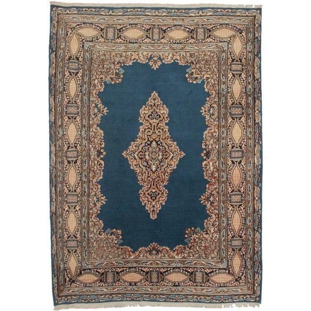 Rugsindallas Vintage Persian Design Wool Area Rug: RugsinDallas Vintage Persian Kerman Area Rug