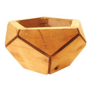Vintage Mod Wood Geodesic Planter