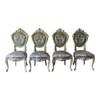 White French Provincial Dining Room Chairs - Set of 4