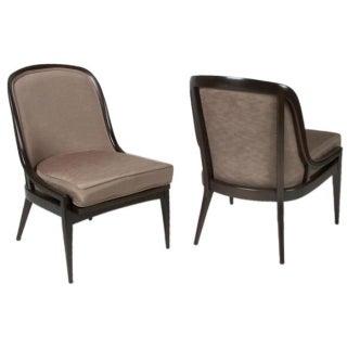 Mid Century Gondola Back Slipper Chairs - Pair
