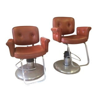 Kaemark Inc. Vintage Salon/Barber Chairs - A Pair