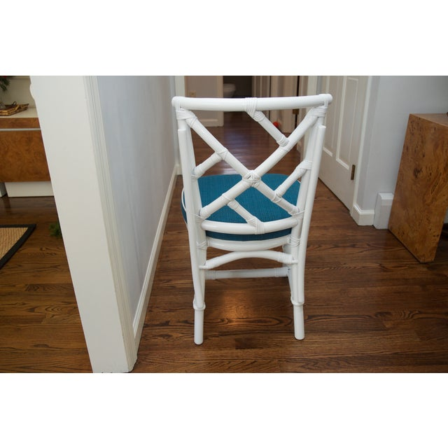 Refinished Ficks Reed Rattan Chairs - Set of 4 - Image 6 of 8