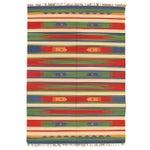 Image of Apadana - Green & Red 6 x 8 Striped Kilim