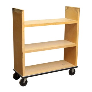 Maple Library Book Cart