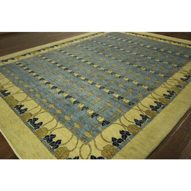 Super Gabbeh Blue Wool Rug - 9' x 12' - Image 4 of 10