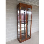 Image of Henredon Campaign Style Curio Cabinet
