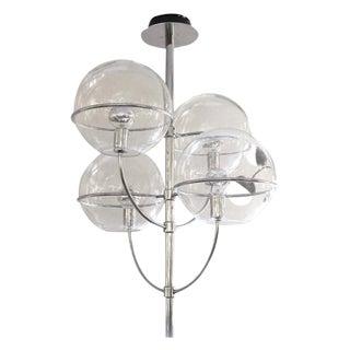 Large O-Luce Four Globe Chandelier