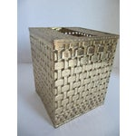 Image of Basket-Weave Gold Tissue Box