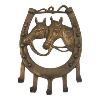 Hanging Brass Horseshoe Hook