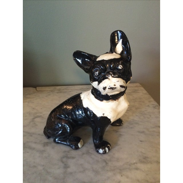 Image of Vintage Cast Iron Boston Terrier