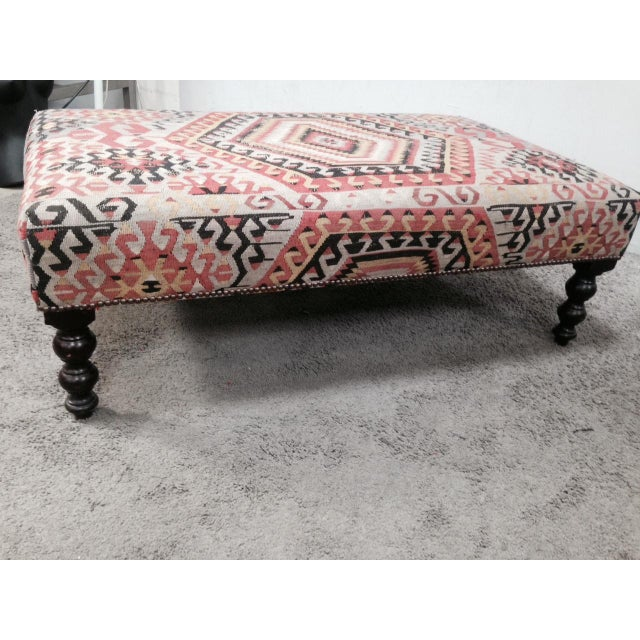 George Smith Boho Chic Kilim Ottoman - Image 6 of 10