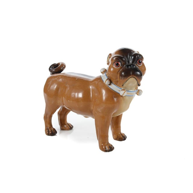 Image of English Bulldog Antique Porcelain Figurine C.1900s