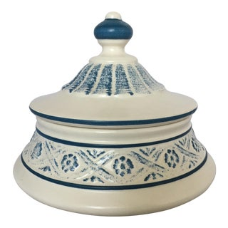 Round Ceramic Trinket Box by Royal Haeger