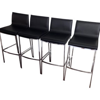 Cantoni Chevelle Chrome Bar Stools - Set of 4
