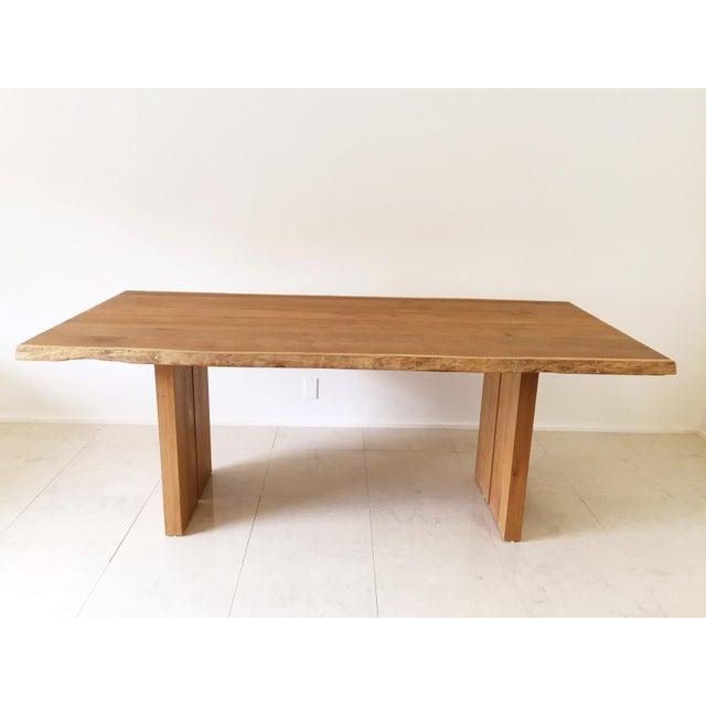 White Oak Slab Live Edge Dining Table - Image 8 of 9