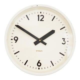Industrial station clock by Schauer, 1964