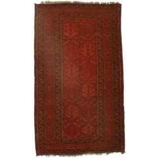 RugsInDallas Hand-Knotted Wool Afghan Turkman Rug