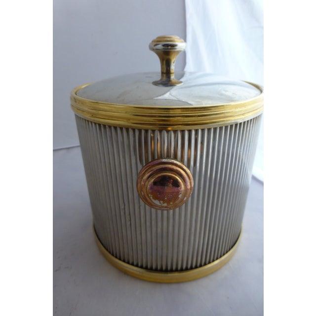 Vintage Brass & Chrome Ice Bucket - Image 5 of 7