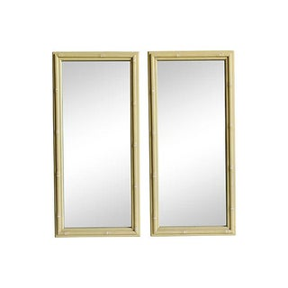 1940s Vintage Faux Bamboo Mirrors - a Pair