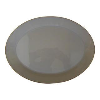Calvin Klein Taupe Oval Serving Platter