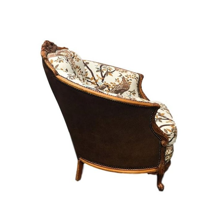 Antique Carved Barrel Chair - Image 2 of 7