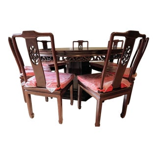 Large Asian Dining Set, Round