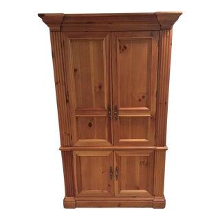 Solid Oak Armoire Desk