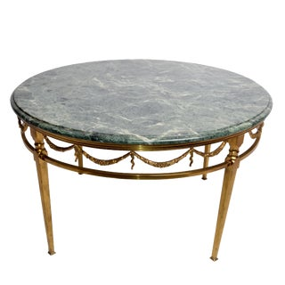 Italian Brass & Marble Coffee Table