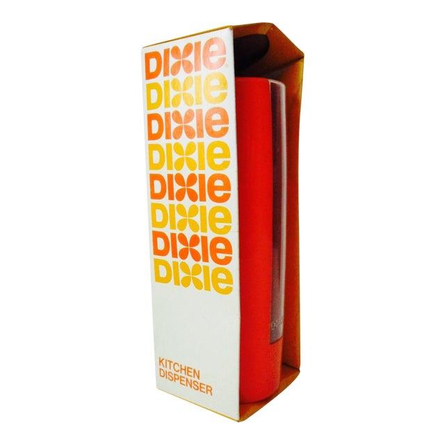 Dixie Kitchen: Vintage Kitchen Orange Dixie Cup Dispenser