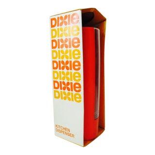 Vintage Kitchen Orange Dixie Cup Dispenser