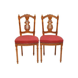 French Lyre-Back Chairs- A Pair