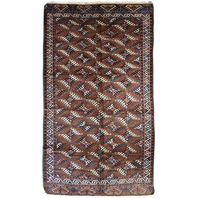 Antique Yomud Carpet - Image 1 of 4