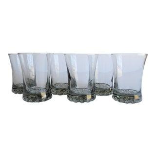 Vintage Hobnail Base Glasses - Set of 6