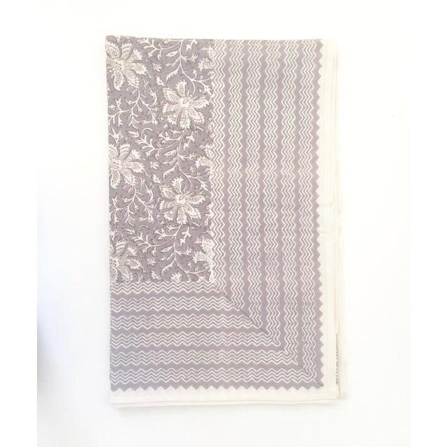 European Handmade Block Print Tablecloth - Image 2 of 5