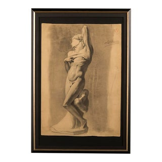 19th century drawing from a Royal Academy class, France c 1880