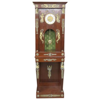 French Empire Style Brass Mounted Grandfather's Clock