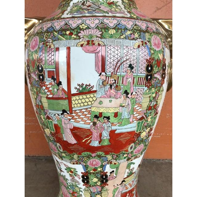 Rose Medallion Floor Vase - Image 5 of 9