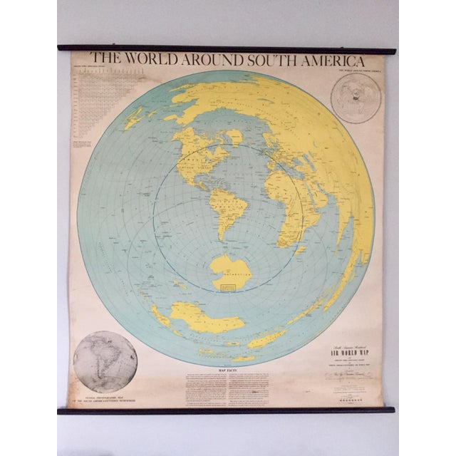 1945 Vintage 1st Edition South America School Map - Image 2 of 9