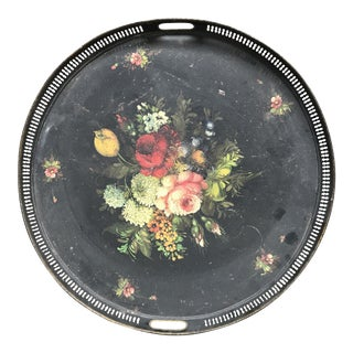 19th Century French Floral Tray
