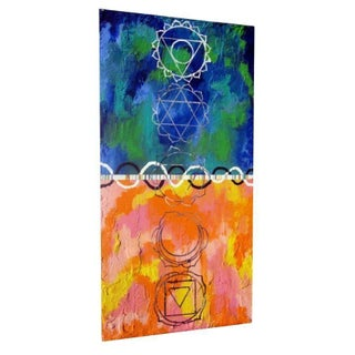 1989 Chakra Modernist Oil Painting by Bruce Racine