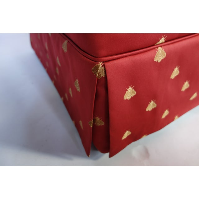 Red Bees Print Love Seat Chairish