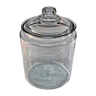 Retro Style Lidded Glass Canister