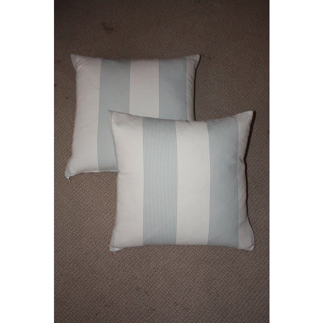 French Blue & Ivory Pillow Cover - A Pair - Image 2 of 4